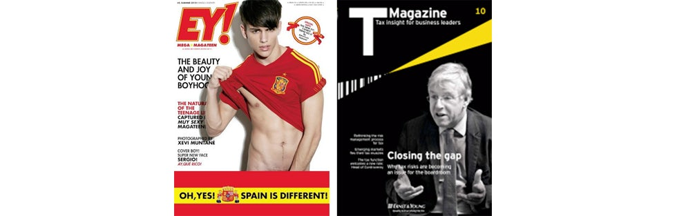 Spot the Difference – One of these is EY's Monthly Magazine