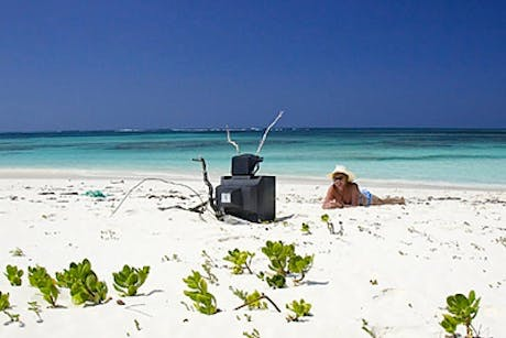 TV on the beach