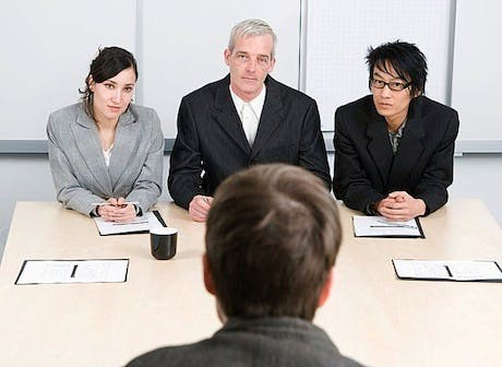 Job interview panel