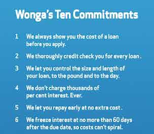 Wonga Ten Commitments