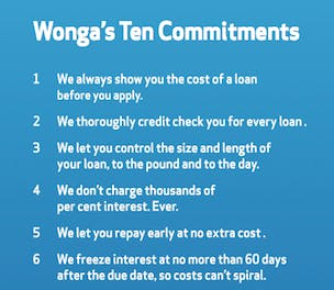Wonga Ten Commitments