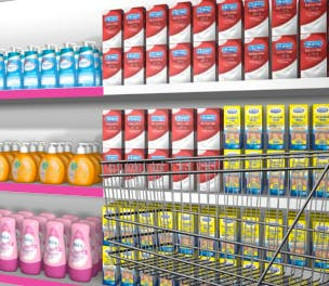 Reckitt products on shelf