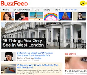 Buzzfeed site