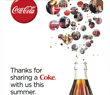 Coke uses ads to thank consumers for 'Share a Coke' success