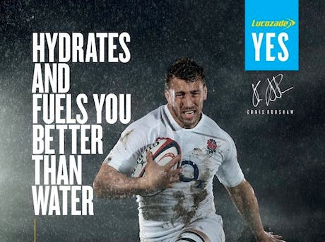 Lucozade Sport ad