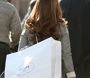 Prada woman shopping bag