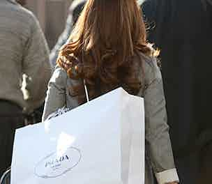 Prada woman shopping bag