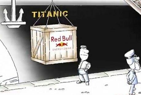 Red Bull Titanic ad