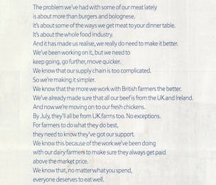 Tesco horse meat ad
