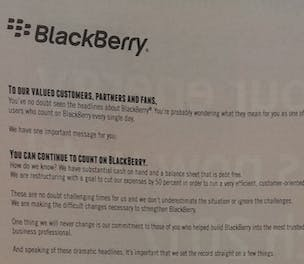 BlackBerry press ads