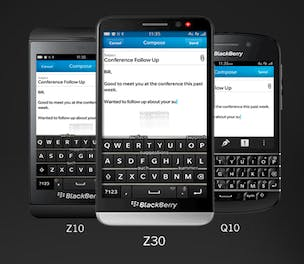 BlackBerry range
