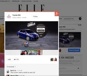 Google Plus Post ads