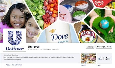 Unilever Facebook page