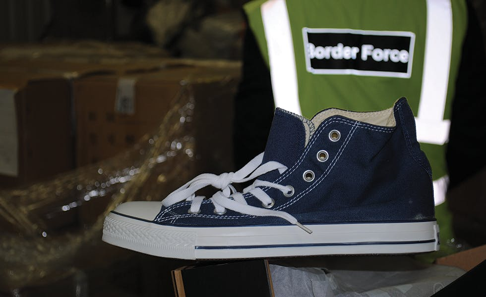 Counterfeit trainers