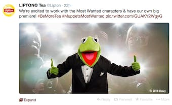 LiptonMuppetsTweet-Campaign-2014_