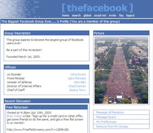 Facebook original profile