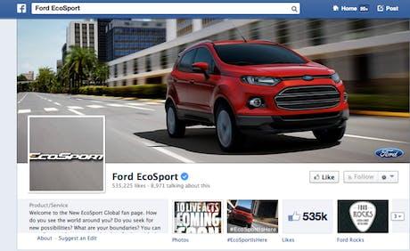 Facebook EcoSport Ford
