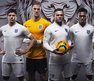 Nike England Home kit launch 2014