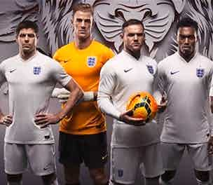 Nike England Home kit launch 2014