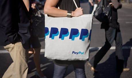 PayPal logo bag
