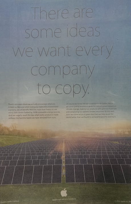 Apple Environment press ad