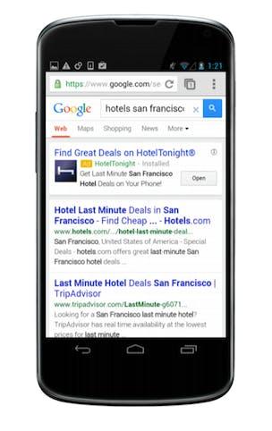 Google app install ad