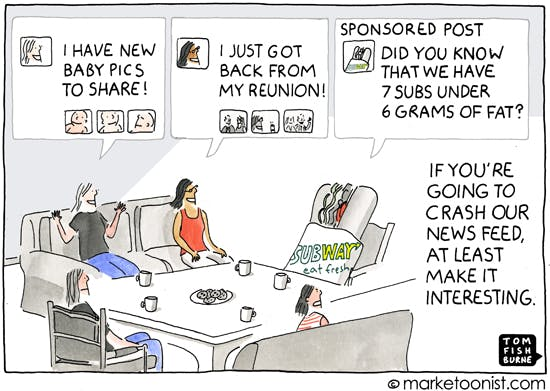 Sponsored posts, the Marketoonist 21 5 14