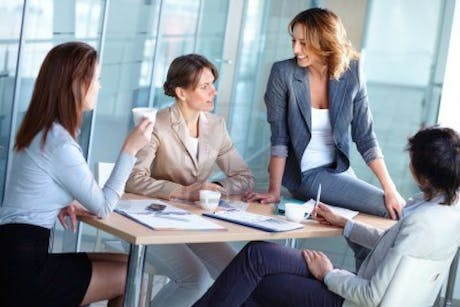 Female marketers boardroom