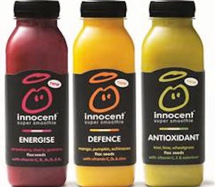 Innocent super smoothie range