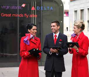 Virgin Delta experiential pop up Canary Wharf