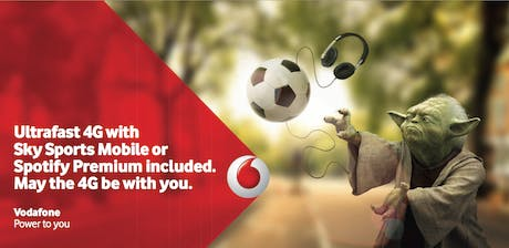 Vodafone 4G outdoor advert Yoda