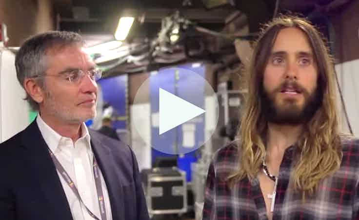 Cannes Jared Leto video overlay