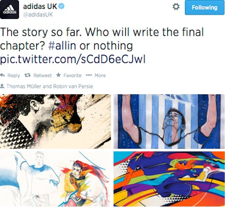 Adidas World Cup tweet