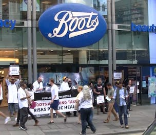 Boots Protest War on Want