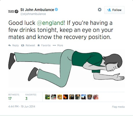 St John Ambulance Tweet