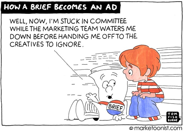 How a brief becomes an ad