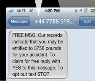 SMS spam