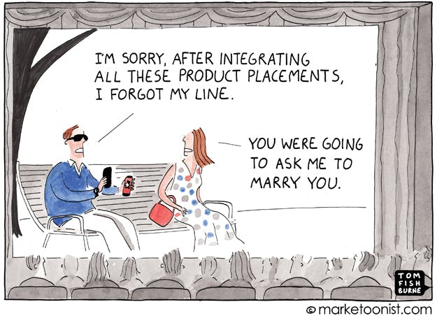 Product placement The Marketoonist