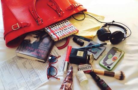 Anna Friel Cath Kidston bag