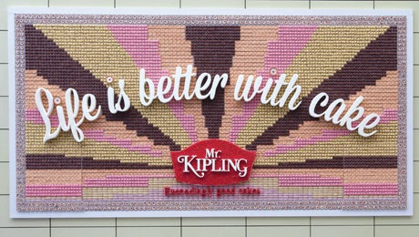 Mr Kipling edible billboard