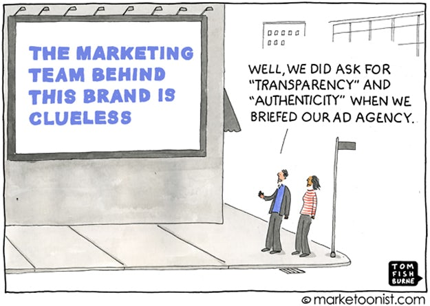 Transparency by the Marketoonist