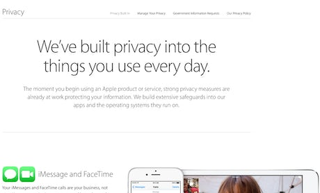 Apple Privacy Website