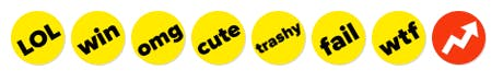 BuzzFeed buttons