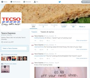 Tesco Express Twitter parody account