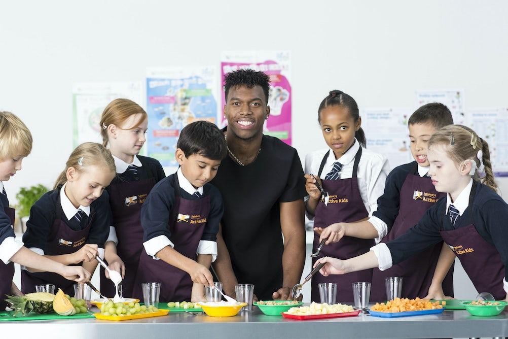 Liverpool striker Daniel Sturridge will front Sainsbury's 'Active Kids' campaign next year.
