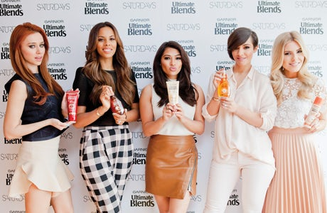 Garnier Blends promoted by The Saturdays