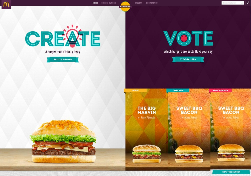 McDonald's is to promote fan-created burgers nationwide.