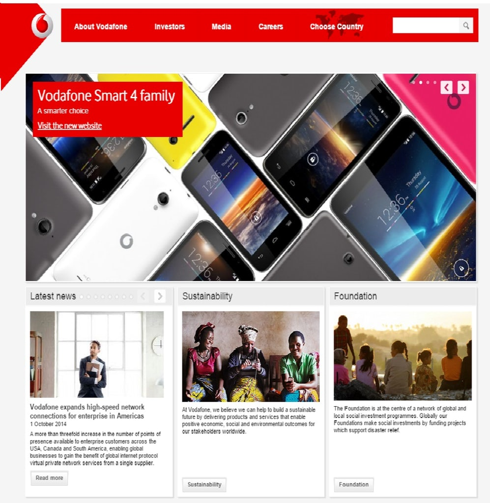 Vodafone is turning its brand site into a social hub to to support its sponsorship drive.