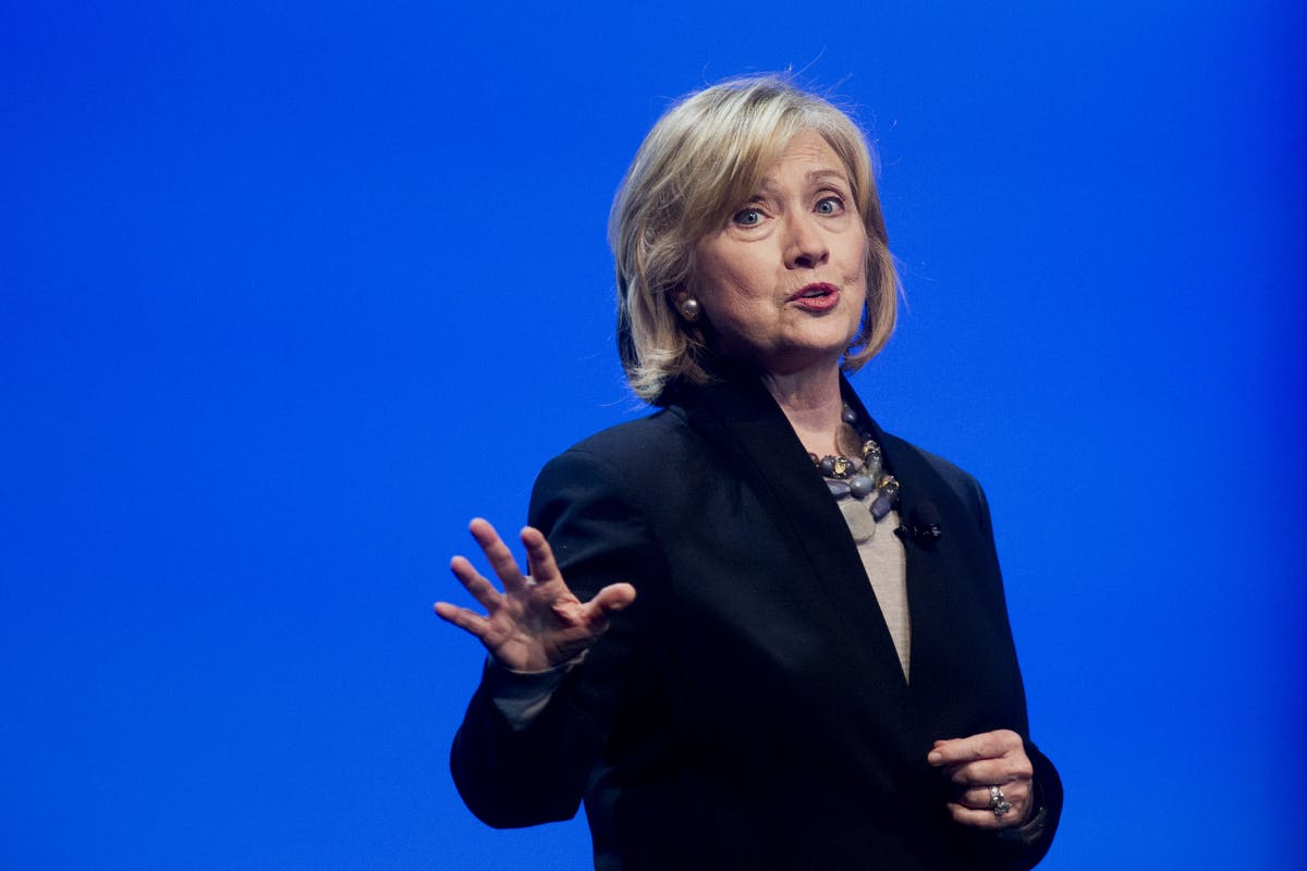Hillary Clinton speaking at DreamForce