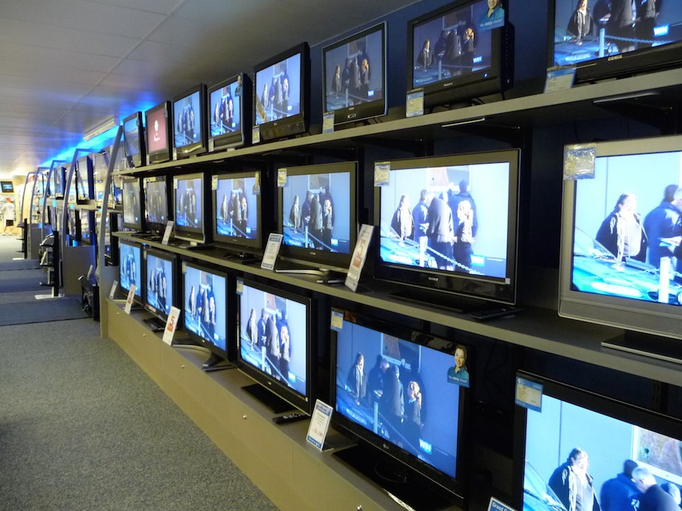 Shoppers are taking a 'wait and see' approach to making big purchases, such as TVs